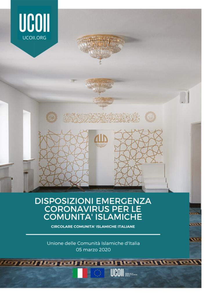 01/2020 - Disposizioni Emergenza Coronavirus per le comunità islamiche
